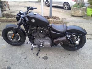 Sacoches Myleatherbikes Harley Sportster Forty Eight (10)